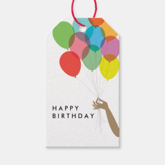 Bright Balloons Happy Birthday Gift Tag