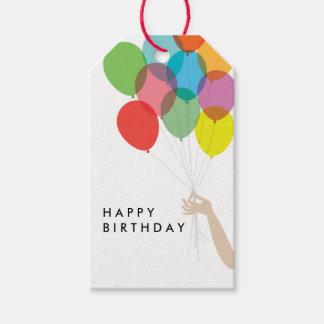 Bright Balloons Happy Birthday Gift Tag