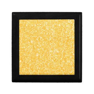 Bright Banana Yellow Faux Glitter Gift Box