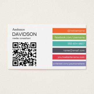 Bright Bar QR CODE Social Media Business Card