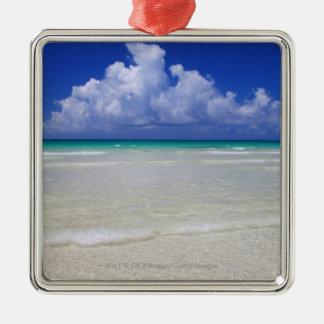Bright beach Silver-Colored square decoration