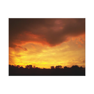 Bright Beautiful Sunset Gallery Wrapped Canvas