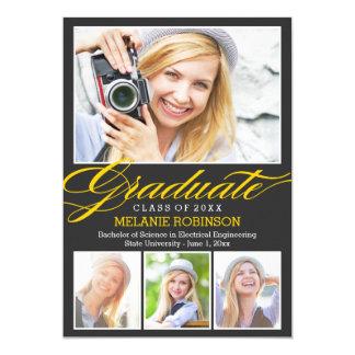Bright Beginning Graduation Invitation - Charcoal