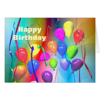 Bright Birthday Balloons Greeting Cards