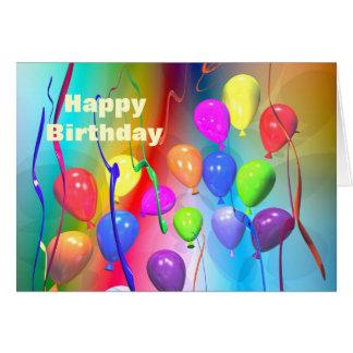 Bright Birthday Balloons Greeting Cards
