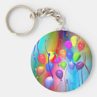 Bright Birthday Balloons Key Ring