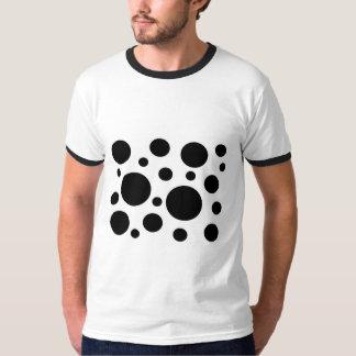 Bright, black circles, shirt. t-shirt