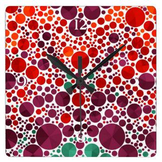 Bright Bling Pattern Clocks