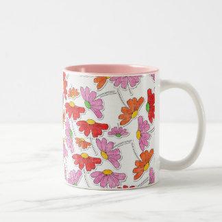 Bright Blooms Two-Tone Coffee Mug