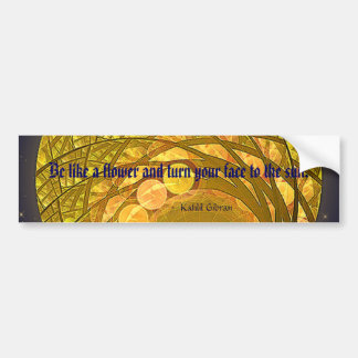 Bright Blossom Moon Bumper Sticker