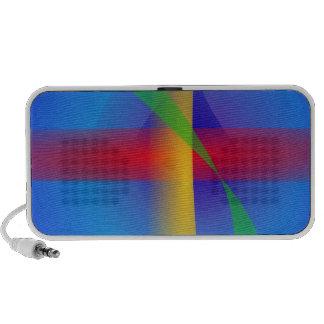 Bright Blue Abstract Art iPod Speaker