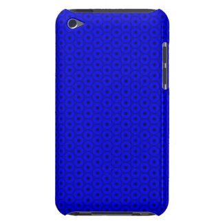 Bright Blue and Black Circle Pattern Barely There iPod Cases