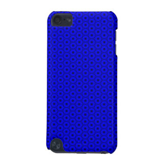 Bright Blue and Black Circle Pattern iPod Touch (5th Generation) Cases