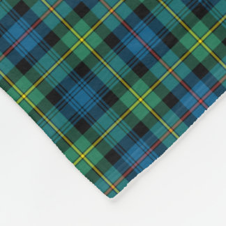 Bright Blue and Green Clan Bailey Tartan Fleece Blanket