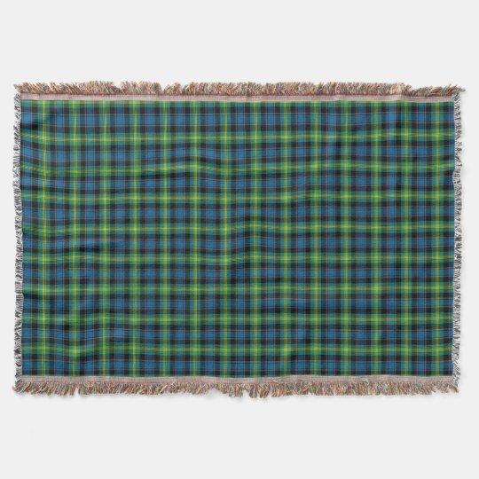 Bright Blue and Green Clan Watson Scottish Plaid