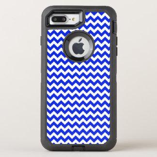 Bright Blue and White Chevron OtterBox Defender iPhone 7 Plus Case