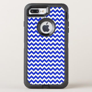 Bright Blue and White Chevron OtterBox Defender iPhone 8 Plus/7 Plus Case