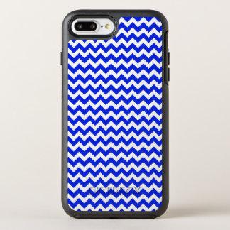 Bright Blue and White Chevron OtterBox Symmetry iPhone 7 Plus Case