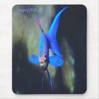 Bright-blue-angel fish, mousepad