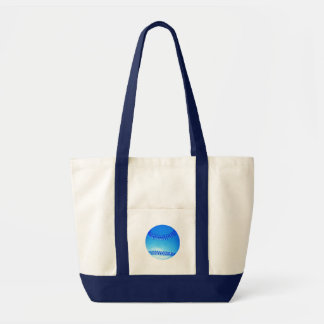 Bright Blue Baseball With White Light Tote Bag