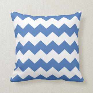 Bright Blue / Brilliant Azure Chevron Pattern Cushion