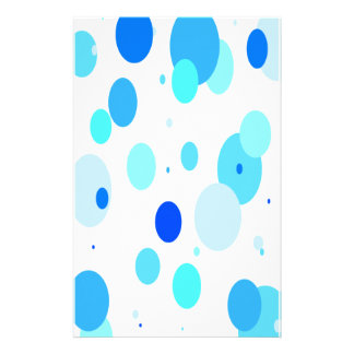 Bright Blue Bubbles Stationery