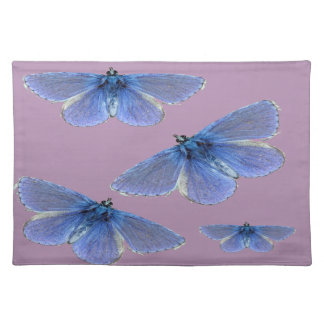 Bright blue butterfly placemat