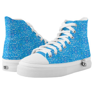Bright Blue Colourful Hydrangea Flower High Tops