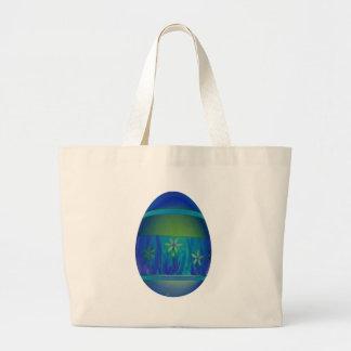 Bright Blue Egg Jumbo Tote Bag