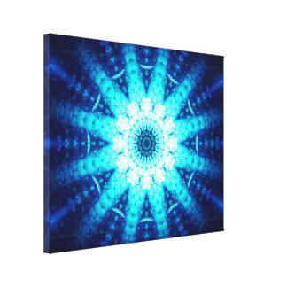 Bright Blue Energy Canvas Print