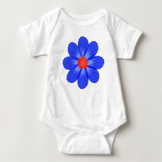 Bright Blue Flower for Baby Baby Bodysuit