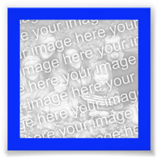 Bright Blue Frame Photo