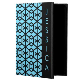 Bright Blue Geometric Pattern iPad Air Cover