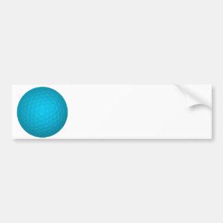 Bright Blue Golf Ball Bumper Sticker