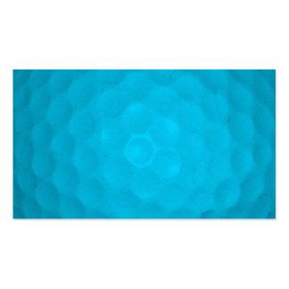 Bright Blue Golf Ball Business Cards