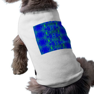Bright Blue Green Lace Abstract Pet Tee