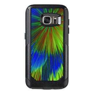 Bright Blue Green Star Burst OtterBox Samsung Galaxy S7 Case