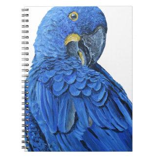 Bright blue Hyacinth Macaw Notebook