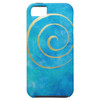 Bright Blue Infinity Golden Spiral Philip Bowman iPhone 5 Covers