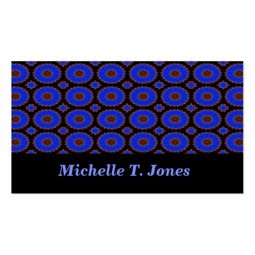 bright blue kaleidoscope pack of standard business cards