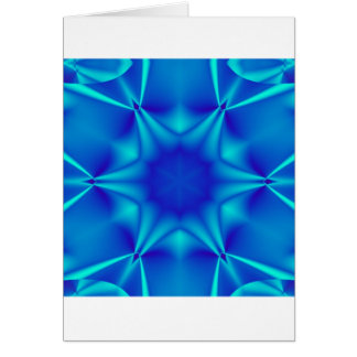 Bright Blue Kaliedescope Inmate Greeting Card