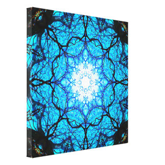 Bright Blue Mandala Canvas Print