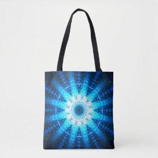 Bright Blue Mandala Tote Bag