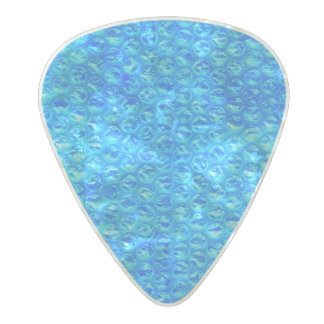 Bright Blue Mermaid Soda Pop Bubble Wrap Pearl Celluloid Guitar Pick