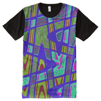 Bright blue mod abstract All-Over print T-Shirt