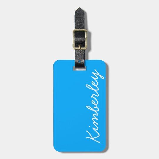 Bright Blue Neon Monogram Trendy Fashion Colours Luggage
