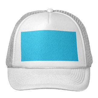 Bright Blue Neon Trendy Colors Mesh Hat