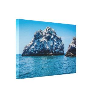 Bright Blue Ocean of Mazatlán Sinaloa Mexico Canvas Print