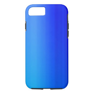 Bright Blue Ombre Watercolor Paint iPhone 8/7 Case
