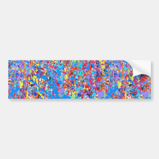 Bright Blue Paint Splatter Abstract Bumper Sticker